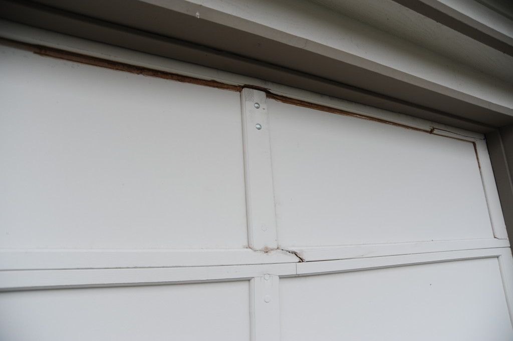 Garage door damage