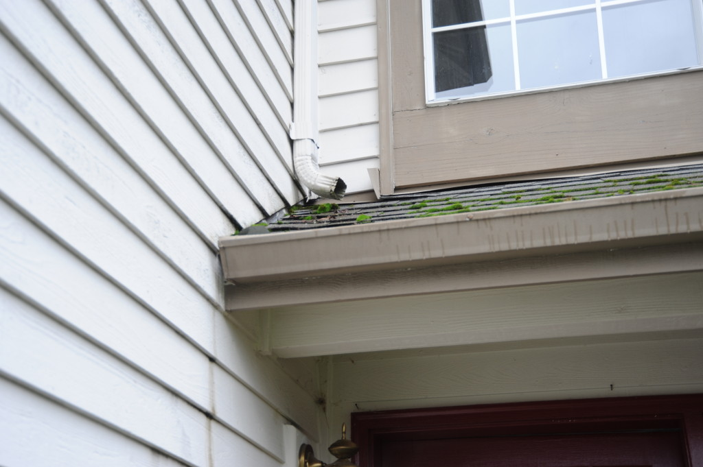 Clean the gutters.  Touch up paint where the water has been running down the side of the house.