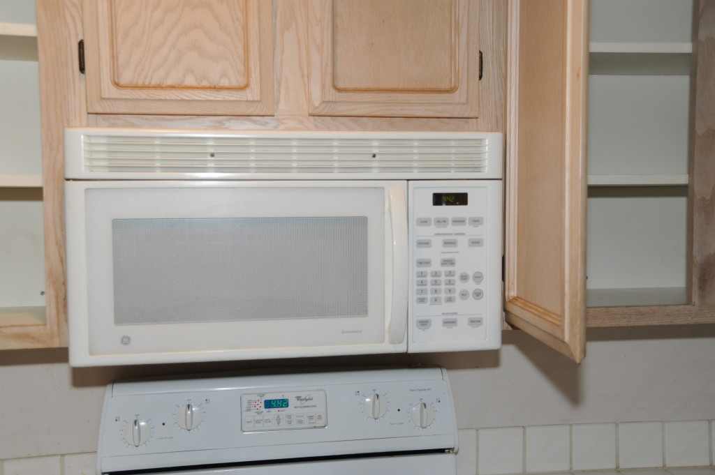 Microwave is ok, but if we go with stainless steel, we  would replace