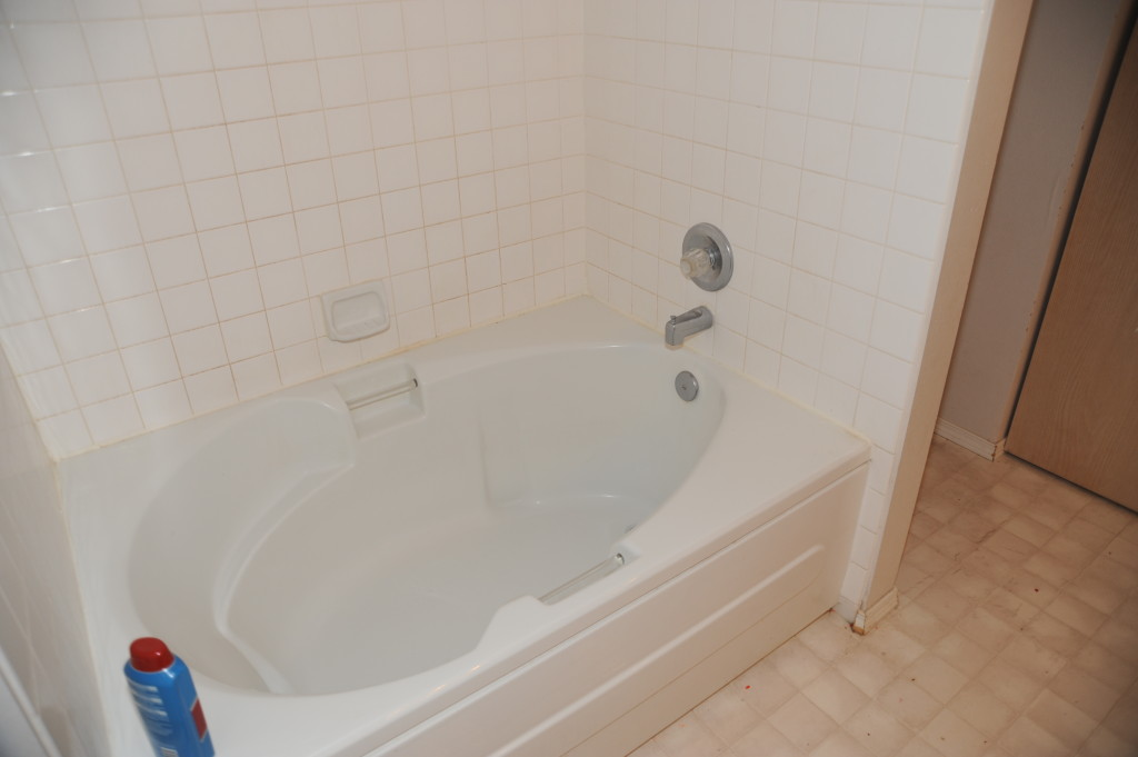 Tub is ok.  Clean and fresh caulking.